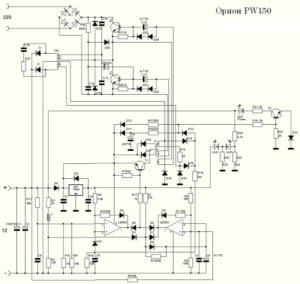 схема Орион PW150