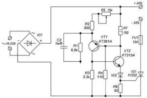 Схема тиристорного зарядного устройства на КУ202Н