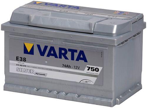 Аккумулятор VARTA SILVER Dynamic E38 574402075 (74Ah)