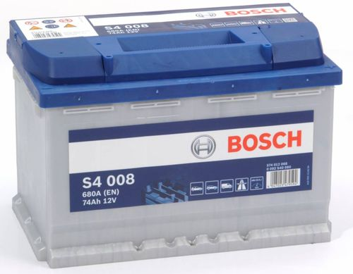 S4 008 Bosch Car Battery 12V 74Ah