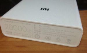 Xiaomi Mi PowerBank с емкостью 20000 mAh