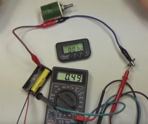Определение ёмкости батареи