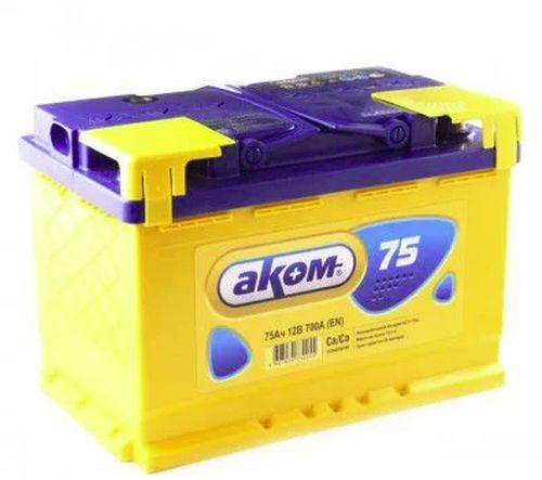 Аккумулятор Аком 6ст-75