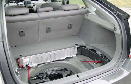 Место для АКБ в машине