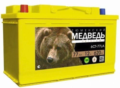 Аккумулятор Тюменский Медведь 77 Ач о.п.
